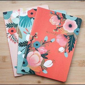 🌺Rifle Paper Co Botanicals Notebooks Set of 3